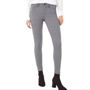 LIVERPOOL Houndstooth Check Super Skinny Knit Pant